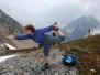 Dancer and Half Moon Balance Poses