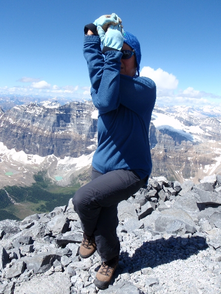 Eagle Pose (Garudasana) atop Mount Temple, BNP, AB