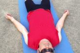 Ian in Relaxation Pose or Corpse Pose (Savasana), Mount Tolmie Park, Victoria, B.C. (Photo by Jenny Feick).