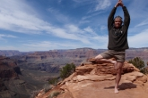 Ian in Tree Pose (Vrikshasana), South Kaibab Trail, Grand Canyon National Park, Arizona (Photo by Jenny Feick).