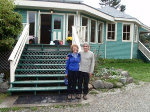 Jenny Feick and husband Ian Hatter on a Yoga Getaway Weekend at the Saltspring Centre for Yoga