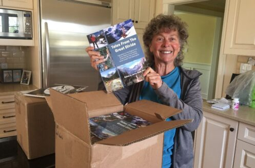 Jenny with the Collector's Edition of Tales from the Great Divide, Sept. 2018